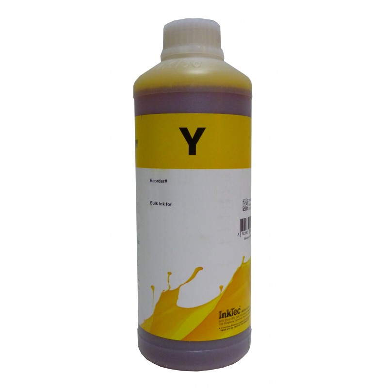 1 litre d'Encre Inktec Pour Brother LC1100 Jaune - refillsupermarket