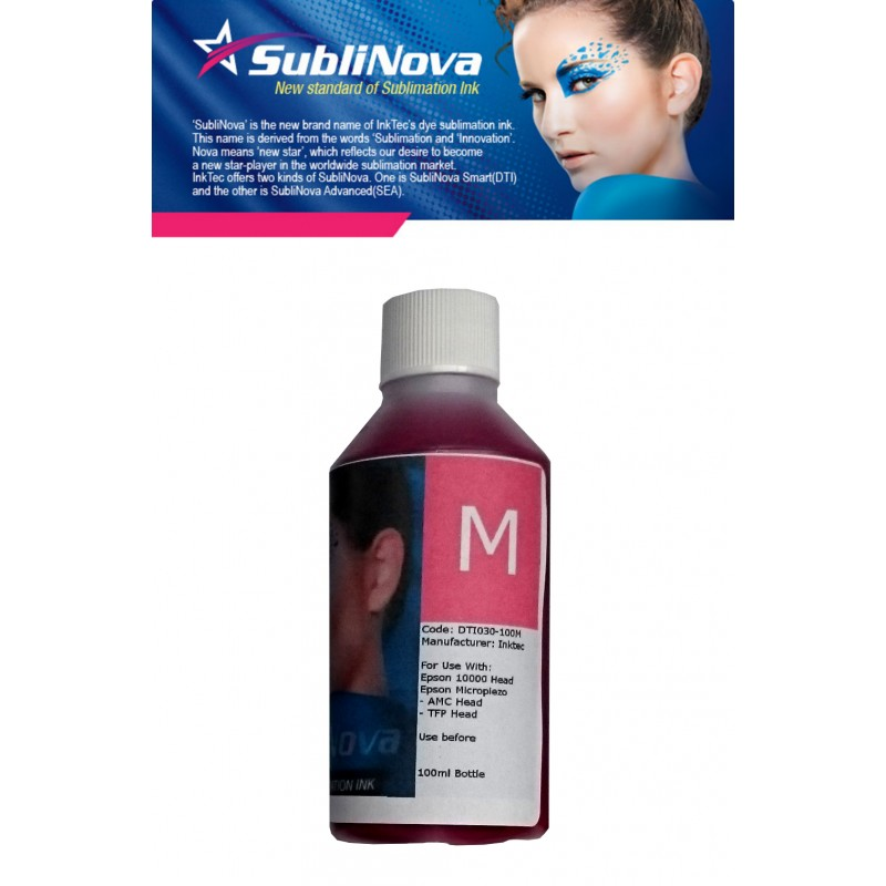 100ml Inktec Sublinova Sublimation Ink Magenta - refillsupermarket