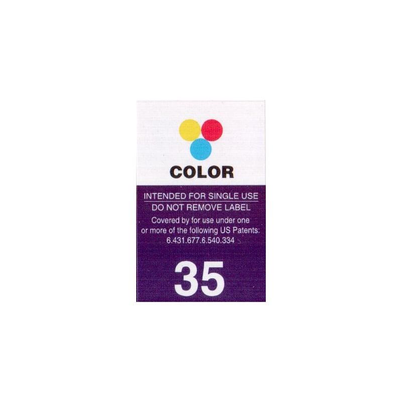 1 Feuille d'étiquettes pour Lexmark 35 (42 par Feuille) - refillsupermarket.com