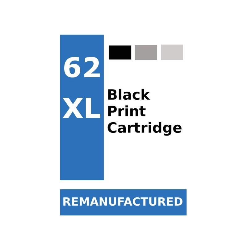 Labels for HP 62 Black XL (72 Labels for sheet) - refillsupermarket