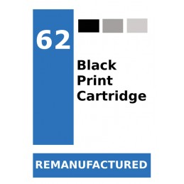 Label for HP 62 Black (72...