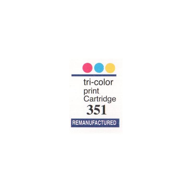 1 Feuille d'étiquettes pour HP 351 (72 par feuille) - refillsupermarket