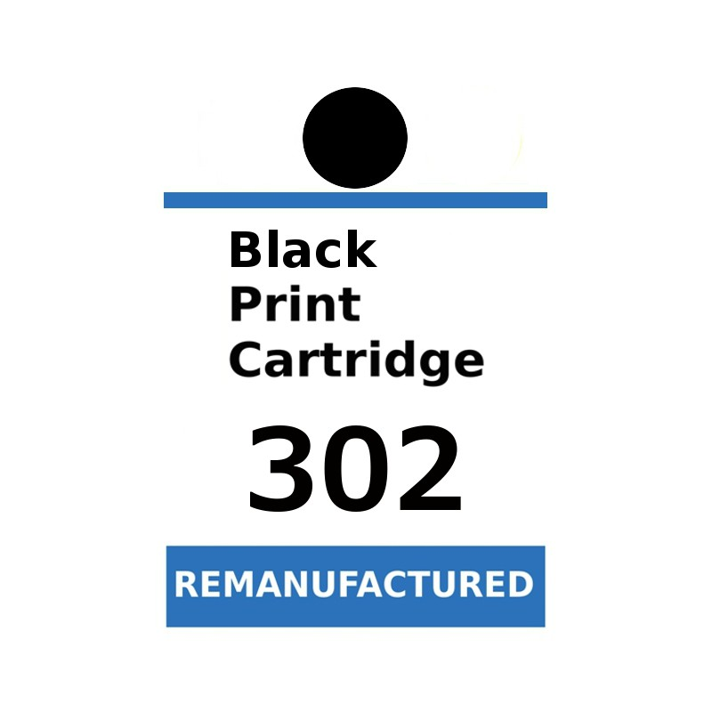 Labels for HP 302 Black (72 labels per sheet) - refillsupermarket