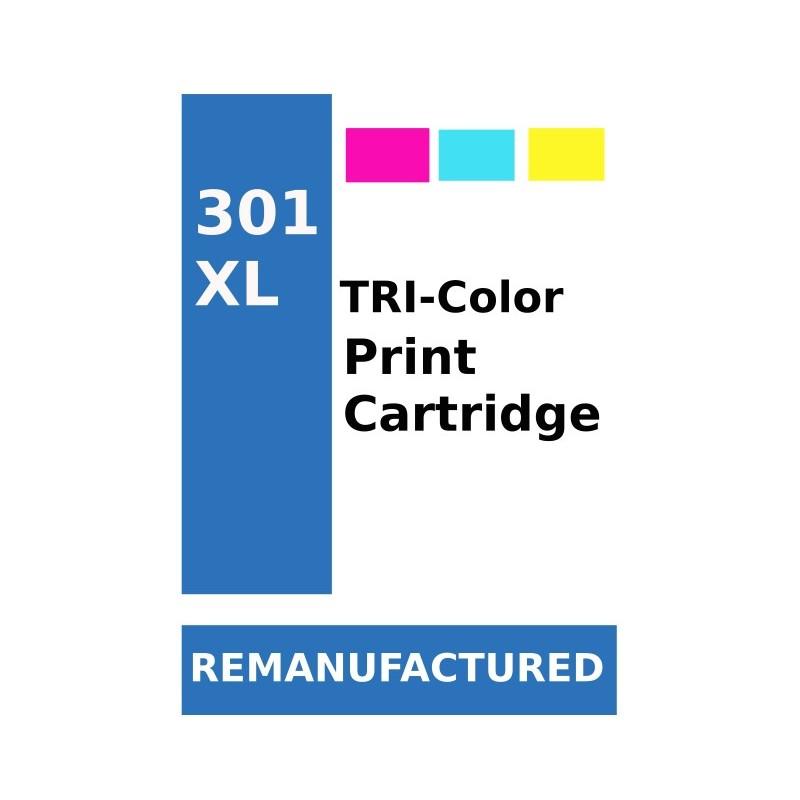 1 Feuille d'étiquettes pour HP301XL Couleur (72 par feuille) - refillsupermarket.com