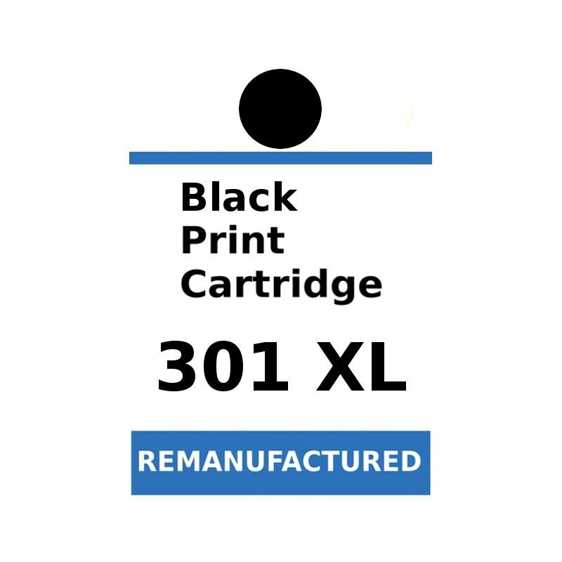 1 Feuille d'étiquettes pour HP301XL noir (72 par feuille) - refillsupermarket.com