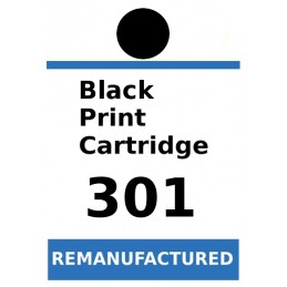 1 sheet labels for HP 301 Black (72 labels) - refillsupermarket