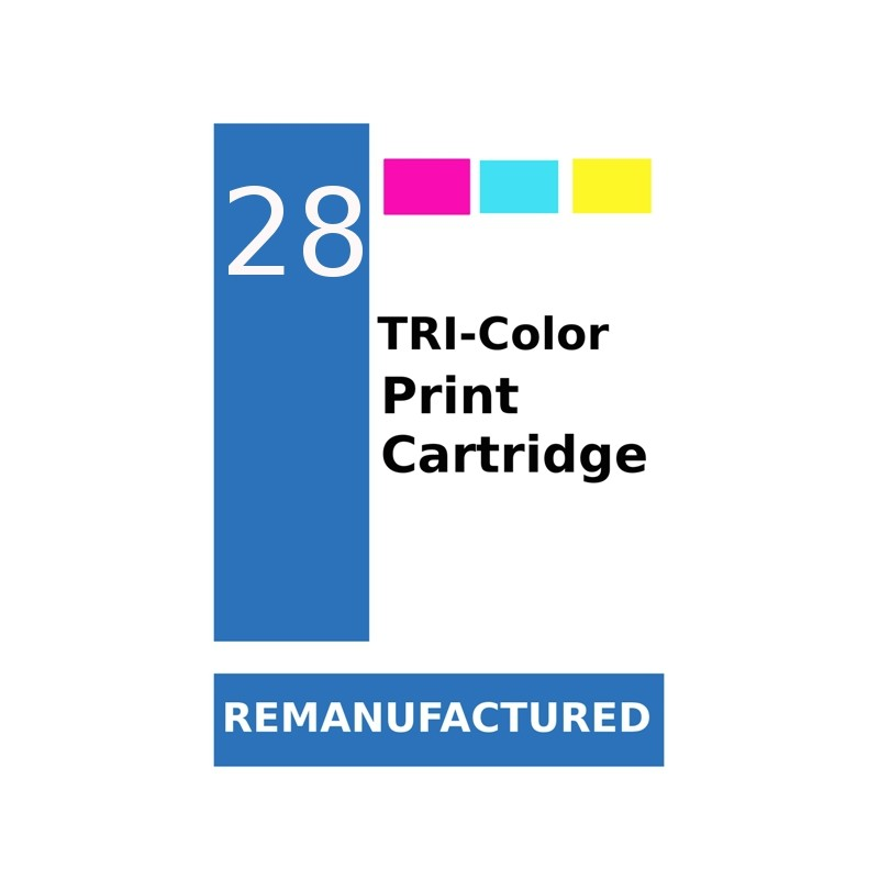 1 Feuille d'étiquettes pour HP28 (72 par feuille) - refillsupermarket.com