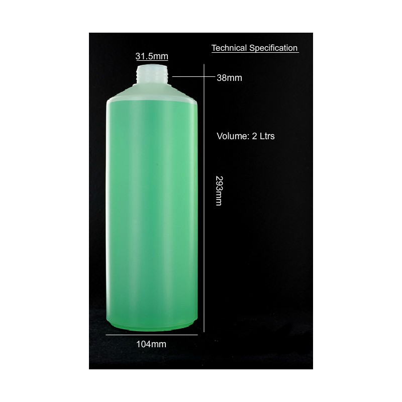 Plastic Bottle 2 ltr Capacity with cap - refillsupermarket