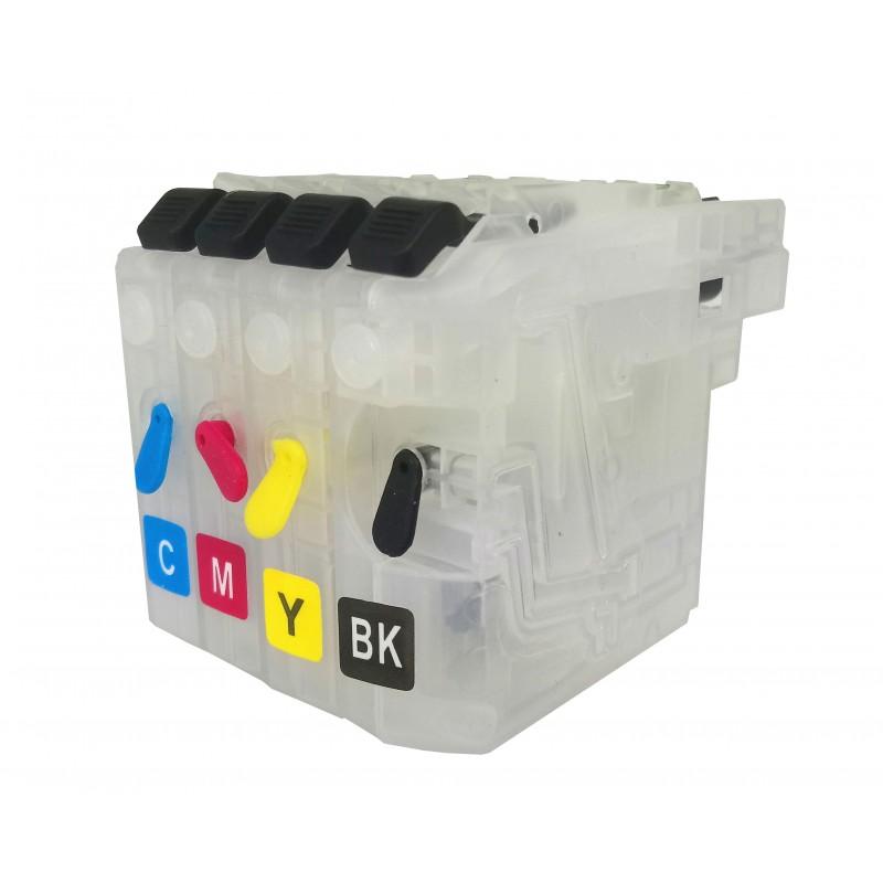 Refillable Cartridges for Brother LC223 all colours CMYK - refillsupermarket