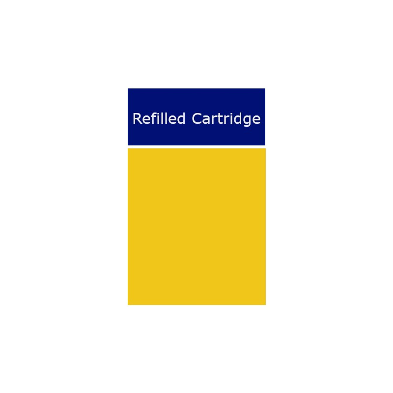 Yellow and Blue labels for HP Cartridges (72) - refillsupermarket