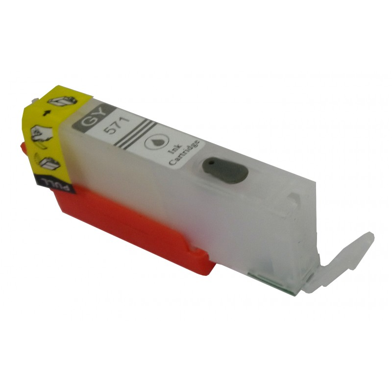 CLI 571 Grey refillable cartridge with ARC Chip - refillsupermarket