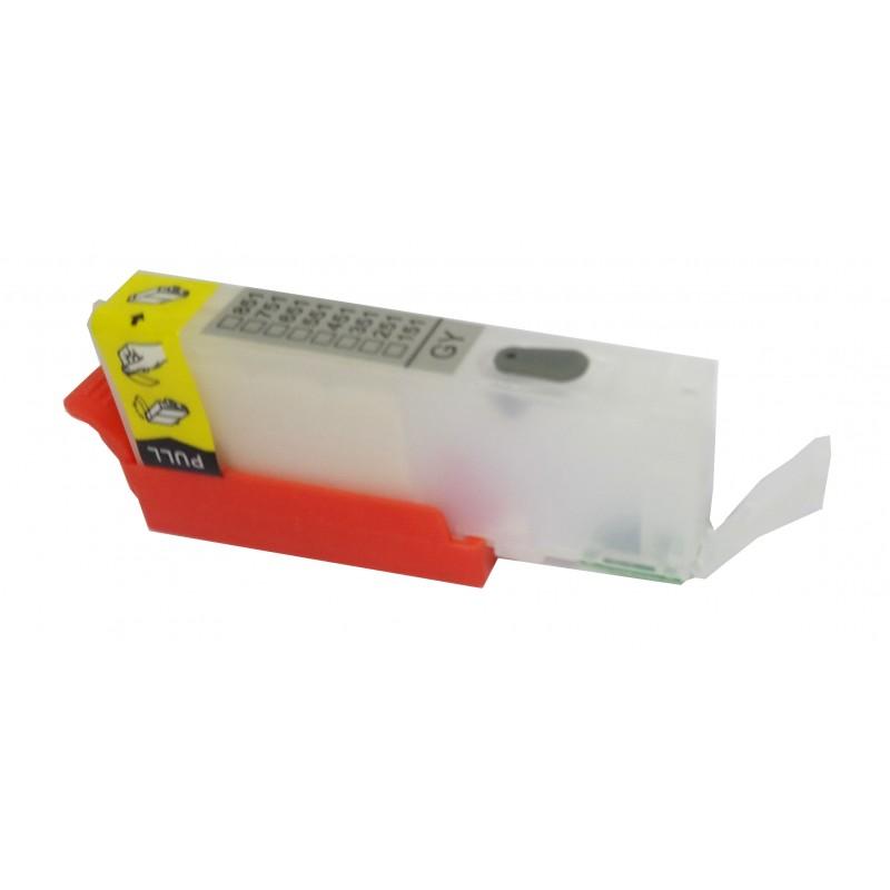 CLI 551 Grey refillable cartridge with ARC Chip - refillsupermarket