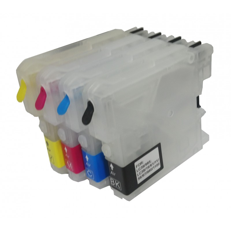 Refillable Cartridges for Brother LC1100 LC980 - refillsupermarket