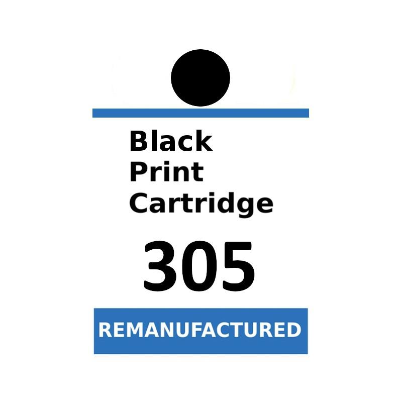 Labels for HP 305 Black (72 labels per sheet) - refillsupermarket