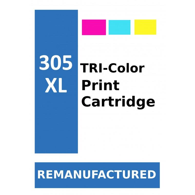 Labels for HP 305XL Colour (72 labels per sheet) - refillsupermarket